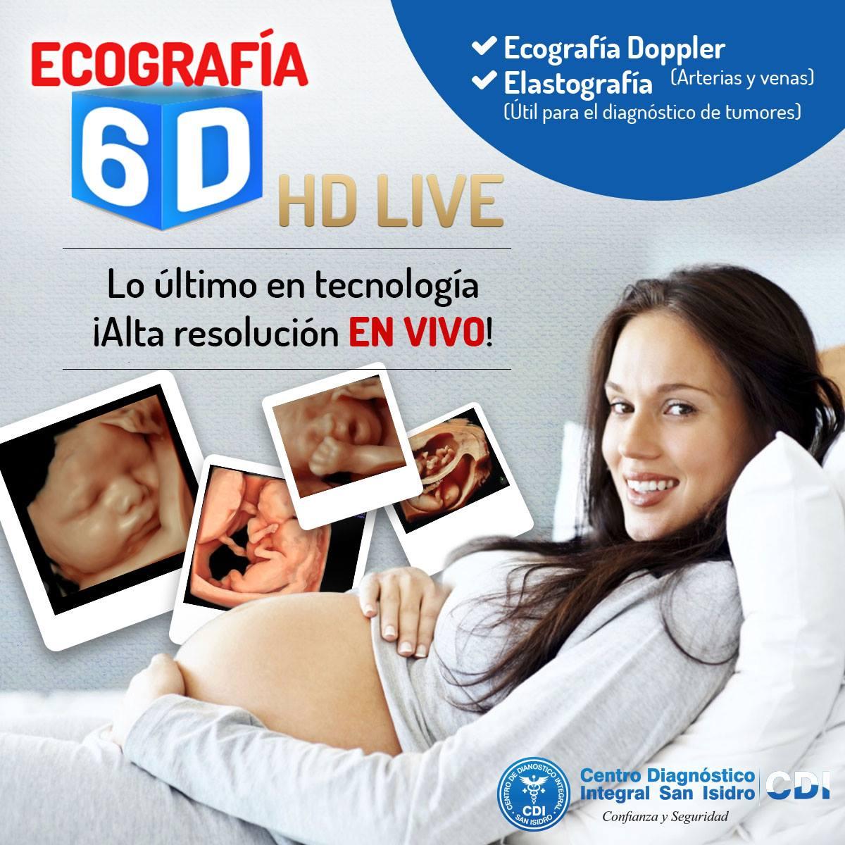 Ecografía 6D HD Live en alta definición