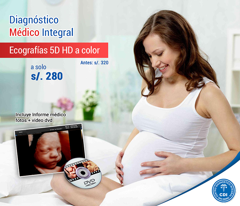 Ecografia 5D hd color incluye Informe médico + fotos + vídeo dvd