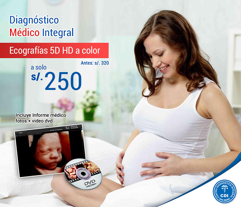 Ecografia 5D HD a color a solo 250 soles